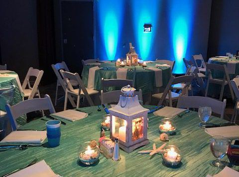 Room decorated in an ocean theme